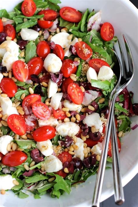 Couscous Salad with Cherry Tomatoes and Mozzarella - Green ...