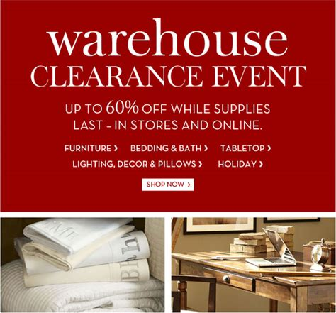 warehouse home decor sales