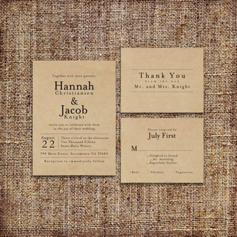 Wedding Invite Kits Paper by Wedding Invitation Set Deposit Printable Custom Diy