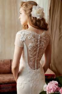 Bridal collection gorgeous lace back button wedding dress 1911220