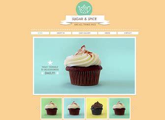 Cupcake Shop Old Website Template Wix Cupcake Website Template