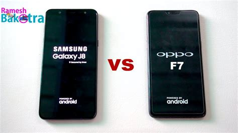samsung galaxy j8 vs oppo f7 speedtest and comparison