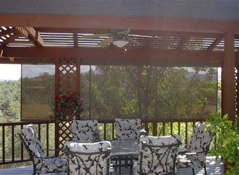 Metal Framed Pergola With Roll Up Sun Shade For Deck Diy Pergola Sun Shades
