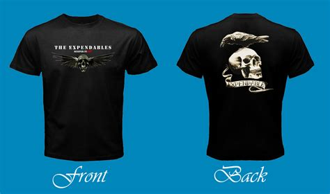 T Shirt Expendables the expendables skull stallone black t