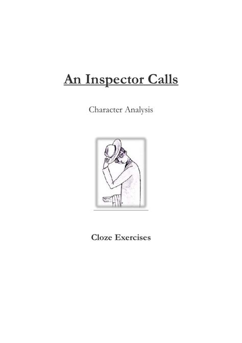 analysis of an inspector calls characters an inspector calls character analysis cloze