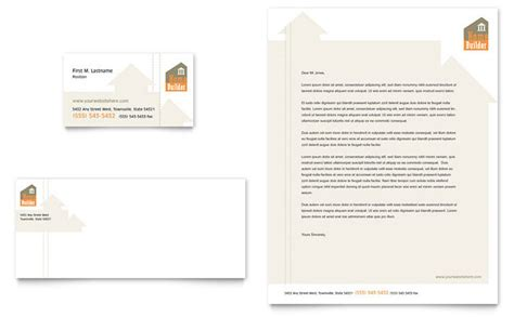 free construction company letterhead templates home building carpentry business card letterhead