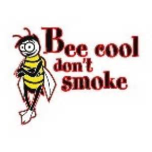 Promotional bee cool don t smoke temporary tattoo