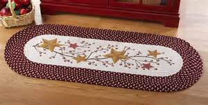 Braided Rug Store Primitive Country Stars And Berries Braided Runner Rug