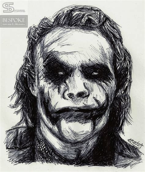 Portraits And Sketches by The Joker Sketch Sketchbook Illustrated