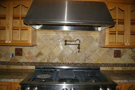 tumbled backsplash tumbled marble tile backsplash kitchen