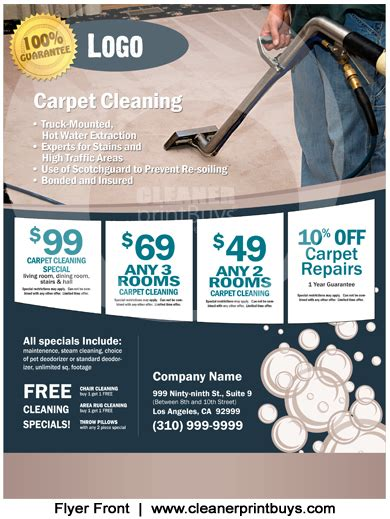 Carpet Cleaning Postcards Templates Carpet Cleaning Flyer 8 5 X 11 C0004