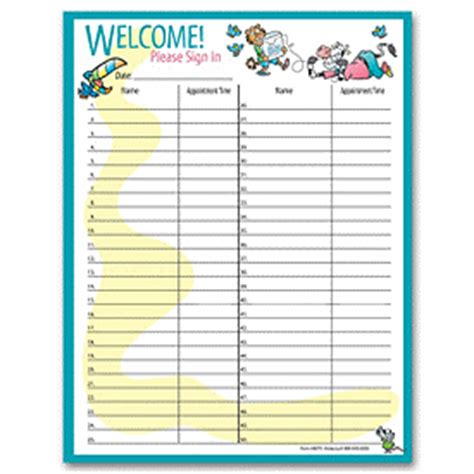 dental sign in sheet template viewlarger item