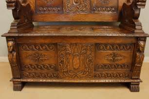 antique monks bench antique carved oak monks bench settle antiques atlas