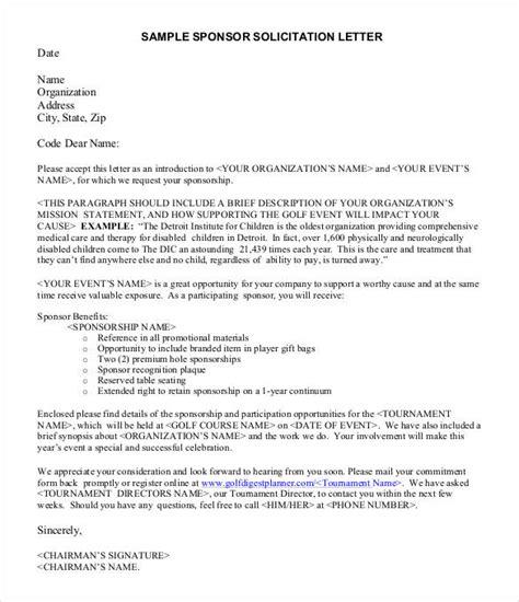 sponsorship letter templates