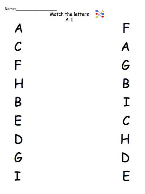 Letter Identification Worksheets