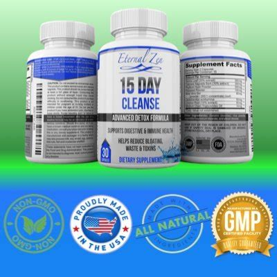 Healthy Detox Cleanse Pills by 15 Day Colon Cleanse Detox Weight Loss Supplement 30 Pills