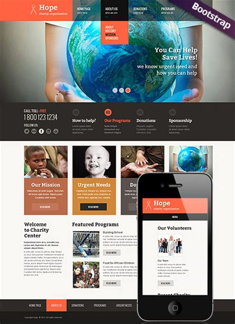 bootstrap templates for charity children charity bootstrap template id 300111623 from