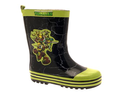 turtle boots boys mutant turtles rubber snow boots