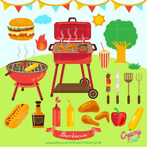 barbecue clipart free barbecue digital clip bbq digital clipart