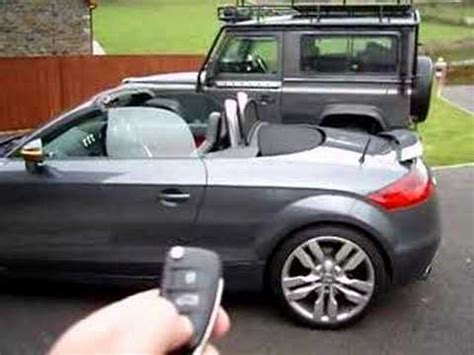 audi tt roadster roof cover audi tt remote roof
