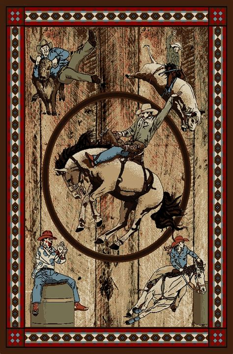 western themed rugs mr ad6078 8x10 rodeo western area rug 7 10 x 9 10