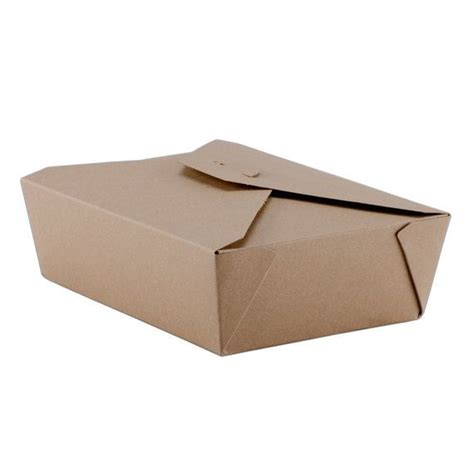 Paper Box Lunch Ukuran M 10 retro kraft paper take out container lunch box
