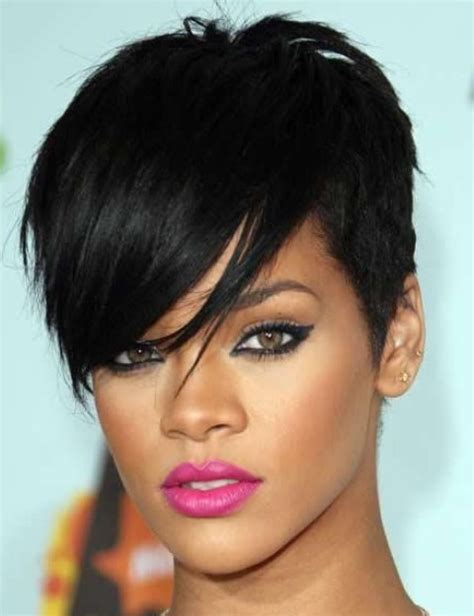 Rihanna Hairstyles Cut | rihanna hairstyles trendy pixie haircut pretty designs