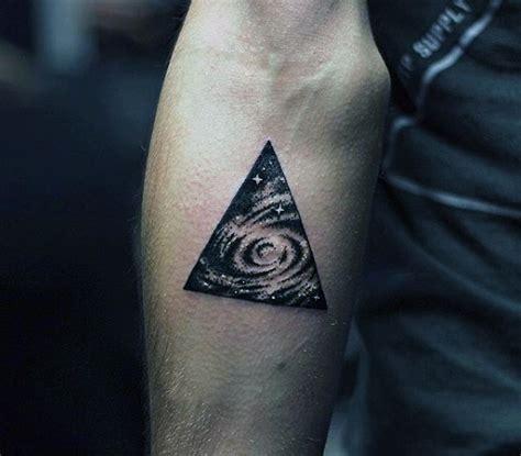 guy getting triangle tattoo on forearm ideas tattoo 90 triangle tattoo designs for men manly ink ideas
