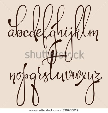design writing font handwritten pointed pen ink style decorative calligraphy