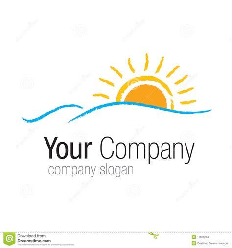 company sun logo sun sea stock photos image 17626253