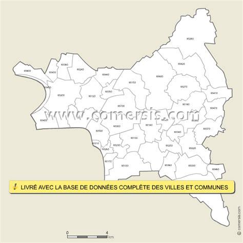carte des codes postaux de la seine denis