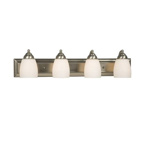 Shop Galaxy 4 Light Barclay Brushed Nickel Standard Lowes Bathroom Vanity Lights