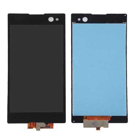 Lcd C3 lcd with touch screen for sony xperia c3 dual d2502 black by maxbhi