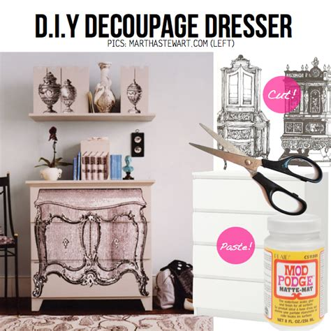 Diy Decoupage Dresser - diy dresser dress up 15 diy ideas tutorials