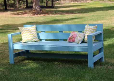 wooden park bench plans ana white modern park bench diy projects