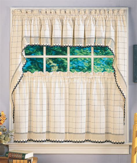 adirondack curtains swag tiers valance white style