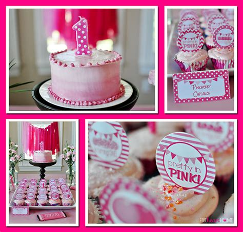 Home Decor Stores India Pink First Birthday Party
