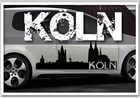Aufkleber Auto Köln Skyline by Preview