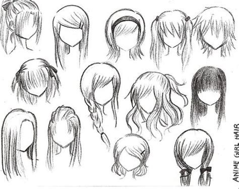 easy way to draw hairstyles different ways to draw anime hair manga work i admire