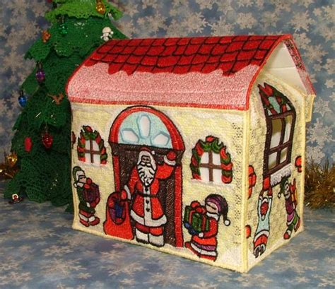 advanced embroidery designs fsl christmas house gift box