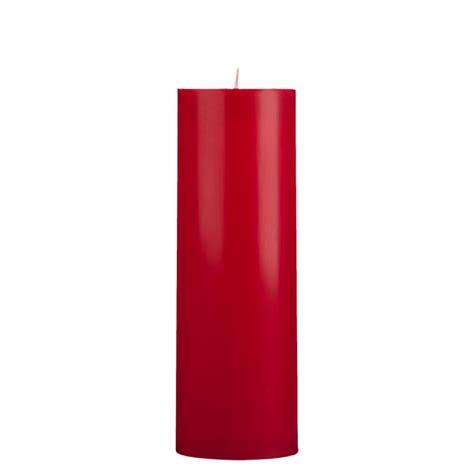 Rhinestone Vases Wholesale 3x9 Red Pillar Candle