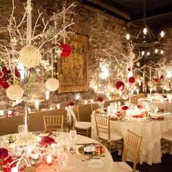 Winter Wedding Decoration - ideas and inspirations for elegant red winter wedding decorations wedwebtalks