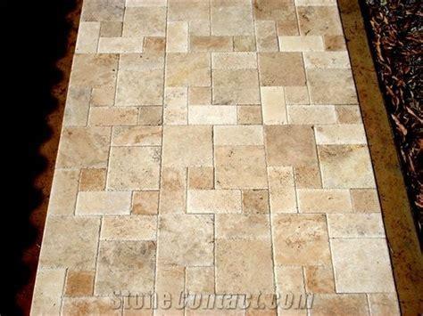 travertine mezzo roman pattern paver p217490 1B (600
