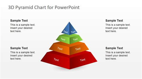 Free 3d Segmented Pyramid Slide For Powerpoint Slidemodel Pyramid Powerpoint Template