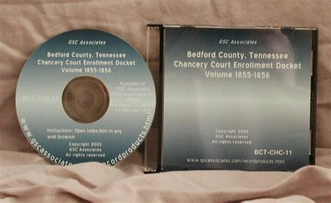 County Tennessee Court Records Bedford County Tennessee Chancery Court Enrollment Docket Volume Quot 1855 1856 Quot