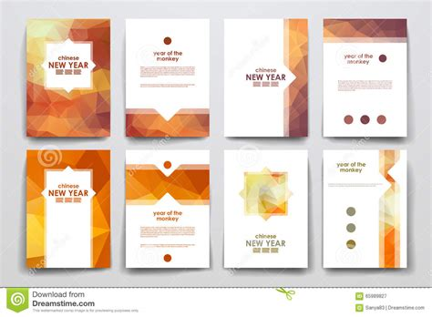 poster layout style set of brochure poster design templates in chinese new