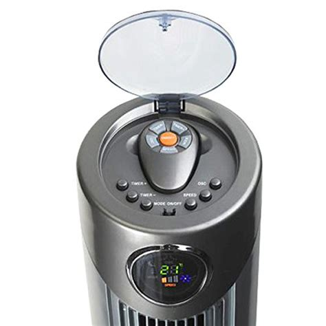 oscillating remote control tower fan arctic pro digital screen oscillating tower fan with