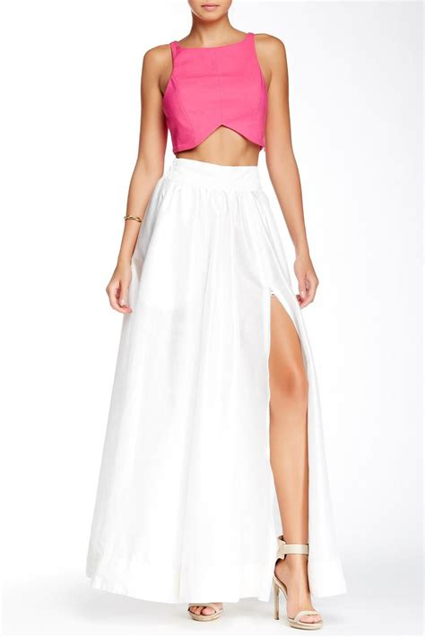 denim spot white maxi skirt from california shoptiques