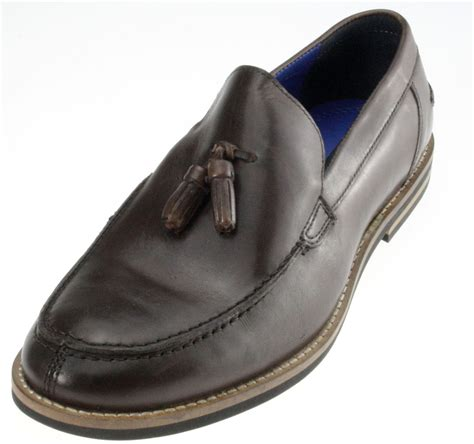 sligo leather mens formal mod tassel loafers