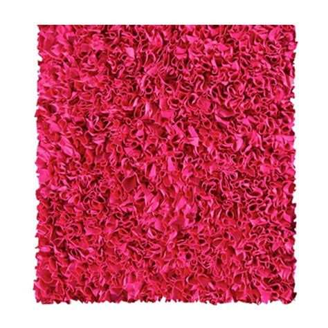 Raspberry Pink Rug by Filament Design Shaggy Raggy Raspberry 4 Ft X 4 Ft